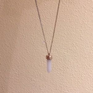 BaubleBar Jewelry - BaubleBar Quartz and Gold Long Necklace